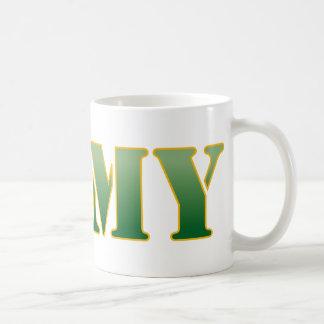 US Army w/Green Text Basic White Mug