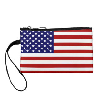US Bag With The American Flag Change Purses