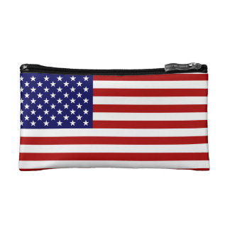 US Bag With The American Flag Cosmetic Bags