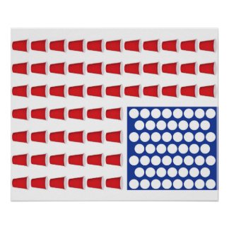 US Beer Pong Poster