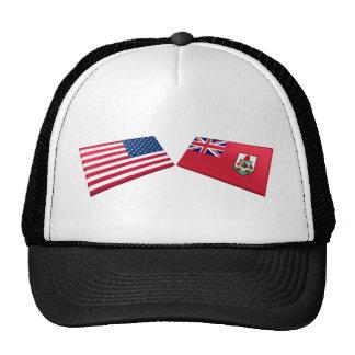 US & Bermuda Flags Cap