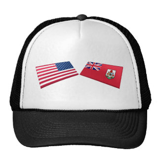 US & Bermuda Flags Mesh Hats