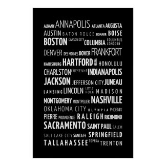 US capitals poster