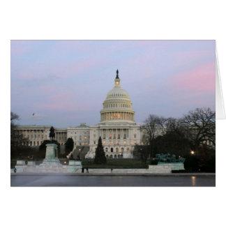 US Capitol at winter dusk Card