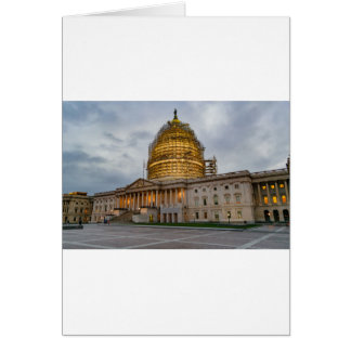 US Capitol Building at Dusk Card