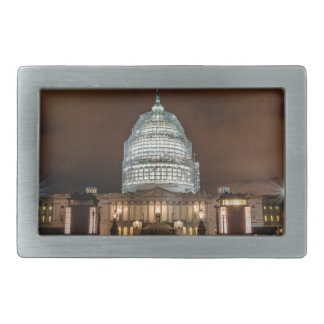 US Capitol Building at Night Belt Buckle