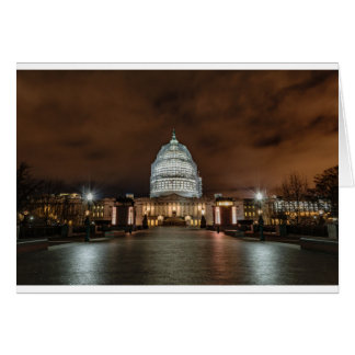 US Capitol Building at Night Card