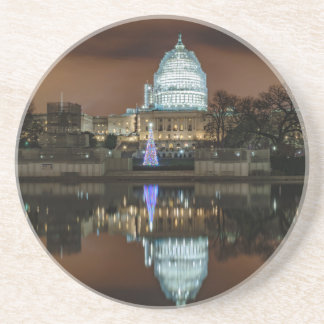 US Capitol Building at Night Drink Coaster