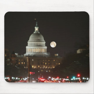 US Capitol Building Full Moon Mouse Pad