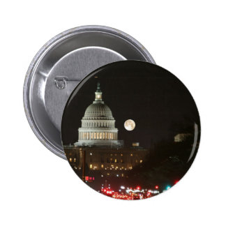 US Capitol Building Full Moon Pinback Buttons