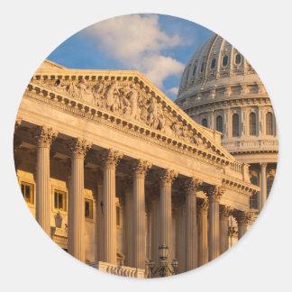US Capitol Building Round Sticker