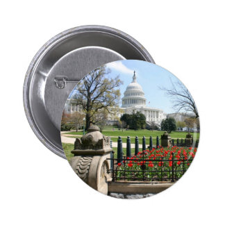 US Capitol building spring Buttons