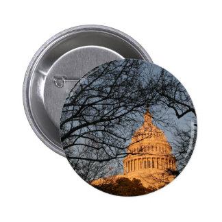 US Capitol Building Sunset Pinback Button