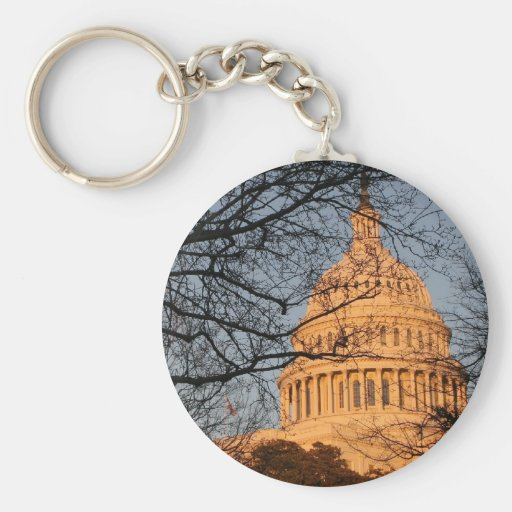 US Capitol Building Sunset Keychain