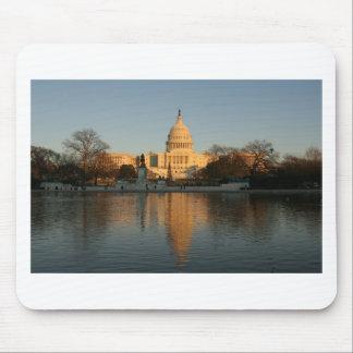 US Capitol Building Sunset Mouse Mat