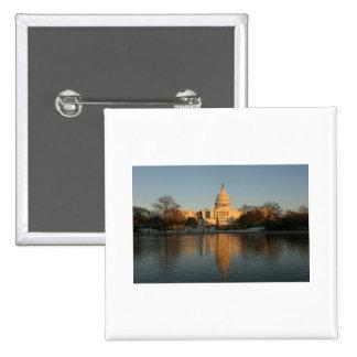 US Capitol Building Sunset Pinback Buttons