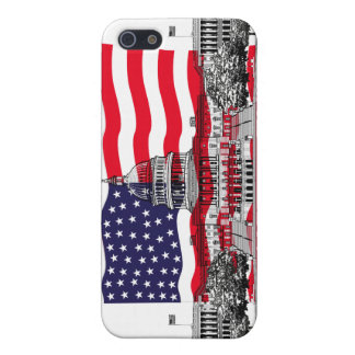 US Capitol Building with American Flag Case For The iPhone 5