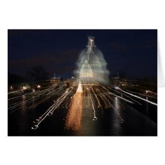 US Capitol celebrating Christmas photo Card