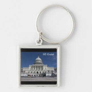 US Capitol Silver-Colored Square Key Ring