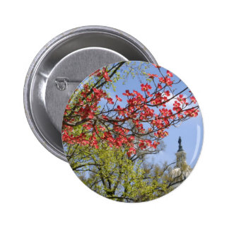 US Capitol spring flower Button