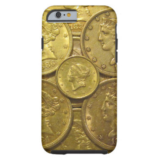 US classic gold coins phone case Tough iPhone 6 Case