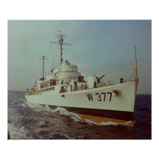 US Coast Guard Cutter Rockaway WAVP-377 Poster