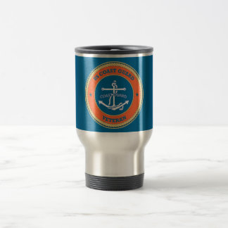 US Coast Guard Veteran Shield Travel Mug
