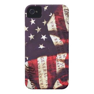 US Constitution & American Flag iPhone 4 Case-Mate Case