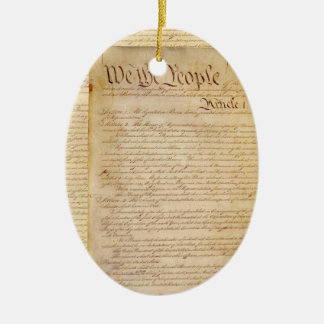 US CONSTITUTION CERAMIC ORNAMENT