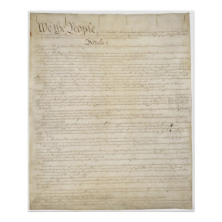 US. constitution Page 1 Poster