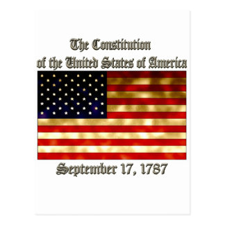 US Constitution Postcard