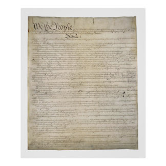 US Constitution Poster Print