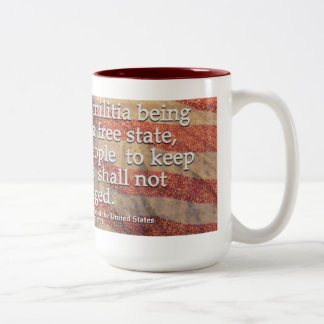 US Constitution Second Amendment Two-Tone Coffee Mug