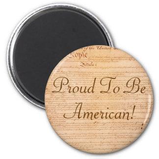 US CONSTITUTION Series 6 Cm Round Magnet