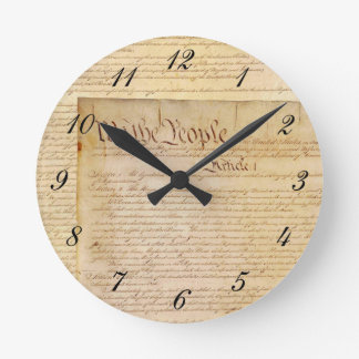 US CONSTITUTION WALLCLOCKS