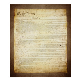 US Constitution We The People Poster