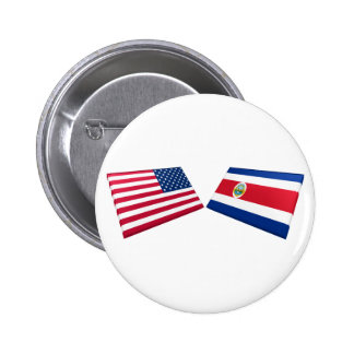 US Costa Rica Flags Pin
