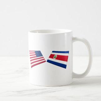 US & Costa Rica Flags Mug