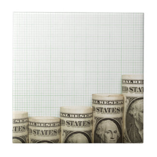 US currency uptrend graph Tile