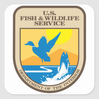US Fish and Wildlife Service Square Sticker