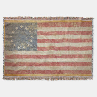 US Flag 1776 Throw Blanket