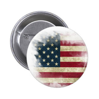 US Flag 2 ¼ Round Button / Pin
