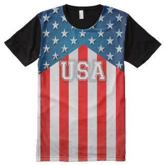 US Flag All-Over Print T-Shirt