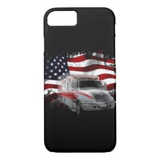 US Flag Ambulance phone case EMT Paramedic
