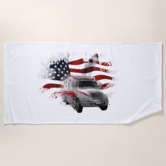 US Flag Ambulance Towel EMT Paramedic