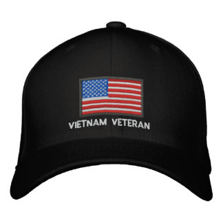 US Flag - America - Vietnam Veteran Embroidered Hats