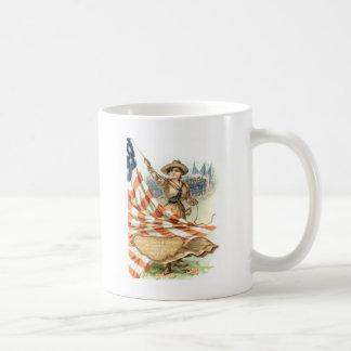 US Flag Army Child Uniform Basic White Mug