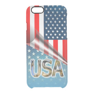 US Flag Clear iPhone 6/6S Case