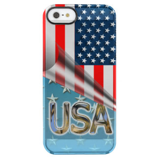US Flag Clear iPhone SE/5/5s Case