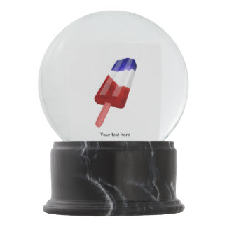US Flag Colored Popsicle Water Color Snow Globes